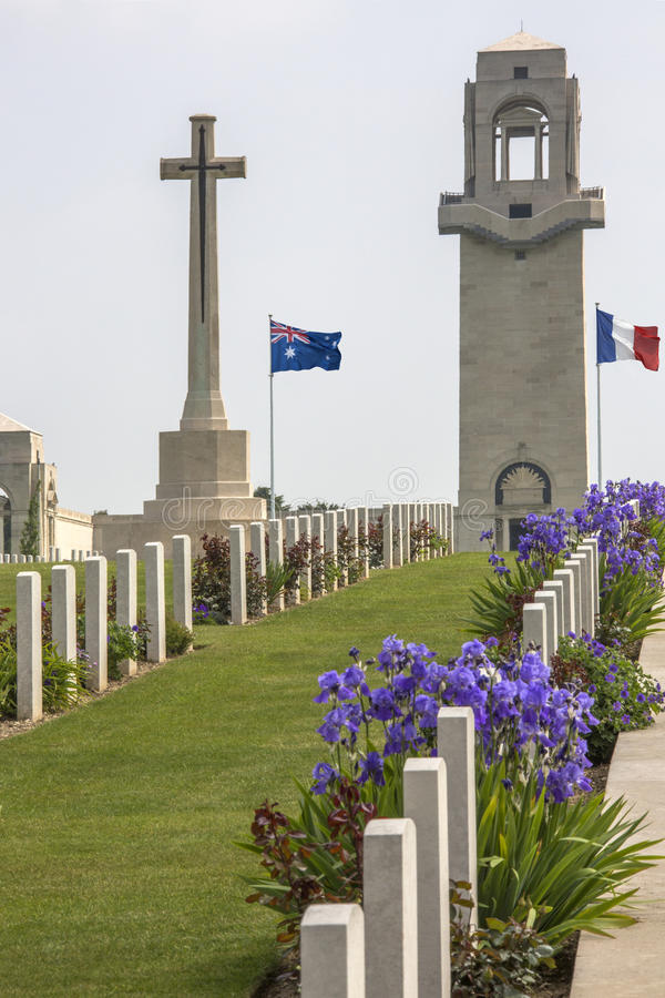 War Cemetery - The Somme - France royalty free stock image