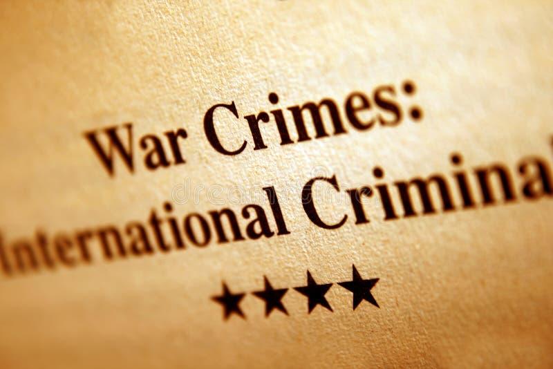 War crimes royalty free stock photo
