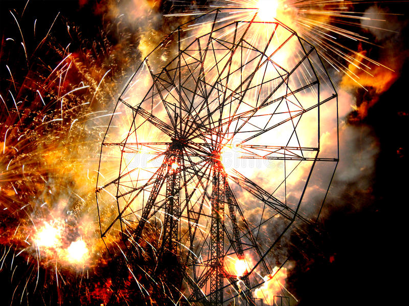 Download War Ferris Wheel stock image. Image of metaphorical, bombblast - 27452329