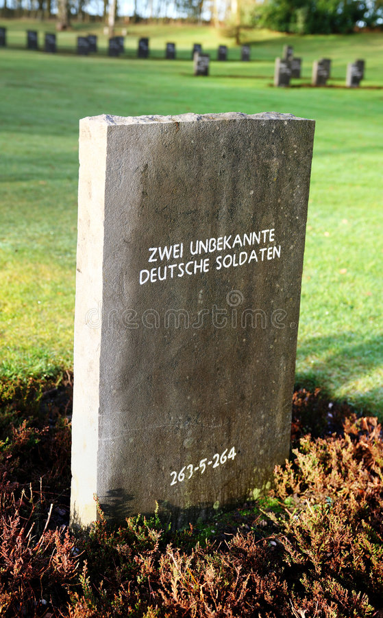 War Grave Unknown German Soldiers Royalty Free Stock Photos