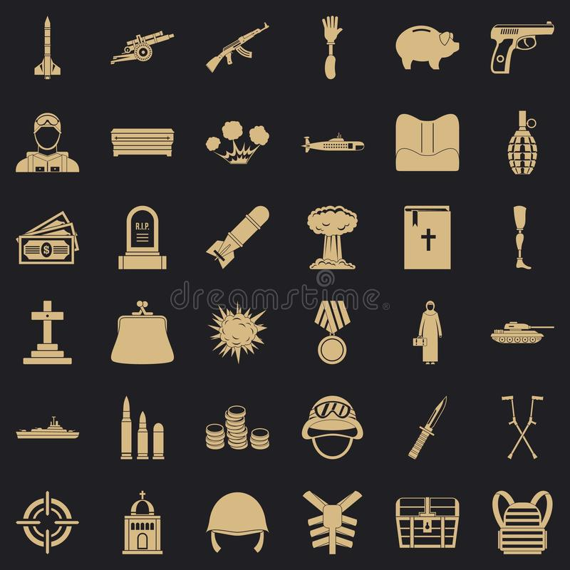 War gun icons set, simple style. War gun icons set. Simple style of 36 war gun vector icons for web for any design vector illustration