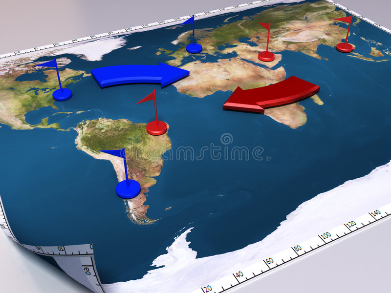 Download War map stock illustration. Illustration of atlas, fighting - 2988155