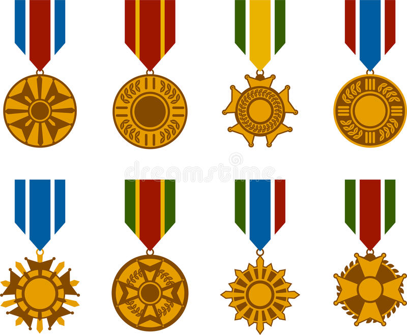 War Medals Series Stock Photography