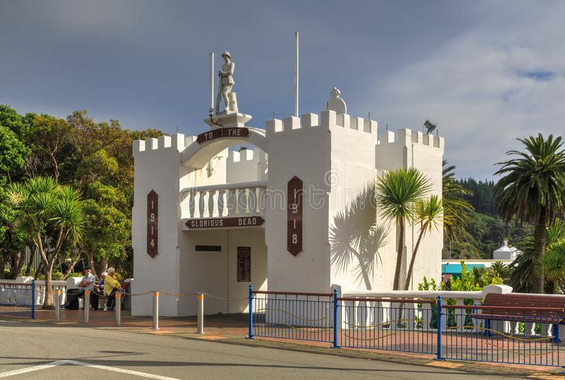 The war memorial in Picton, New Zealand royalty free stock photos
