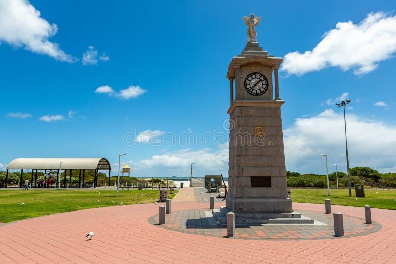 The war memorial clock tower at Semaphore beach South Australia. On 7th November 2018 royalty free stock photos