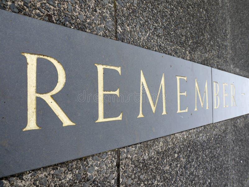 Download War Memorial Inscription: Remember Royalty Free Stock Photos - Image: 22553548