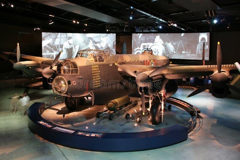War Memorial Lancaster bomber plane stock photography