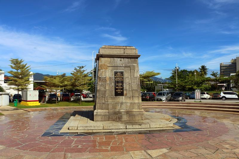 The War Memorial Monument in Ipoh Heritage Square located in Ipoh, Perak, Malaysia. Ipoh, Perak Malaysia - 13 Jan, 2019: The War Memorial Monument in Ipoh stock images
