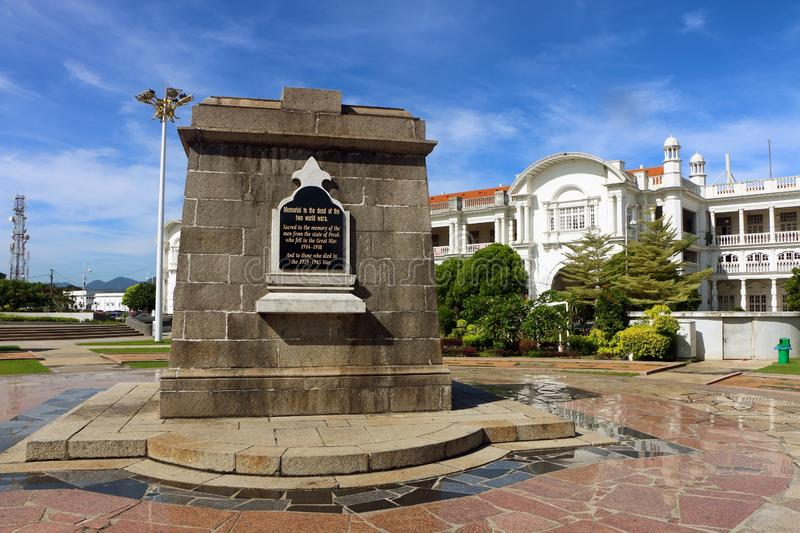 The War Memorial Monument in Ipoh Heritage Square located in Ipoh, Perak, Malaysia. Ipoh, Perak Malaysia - 13 Jan, 2019: The War Memorial Monument in Ipoh royalty free stock photo