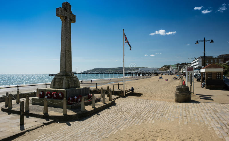War Memorial at Sandown, Isle of Wight, England royalty free stock images