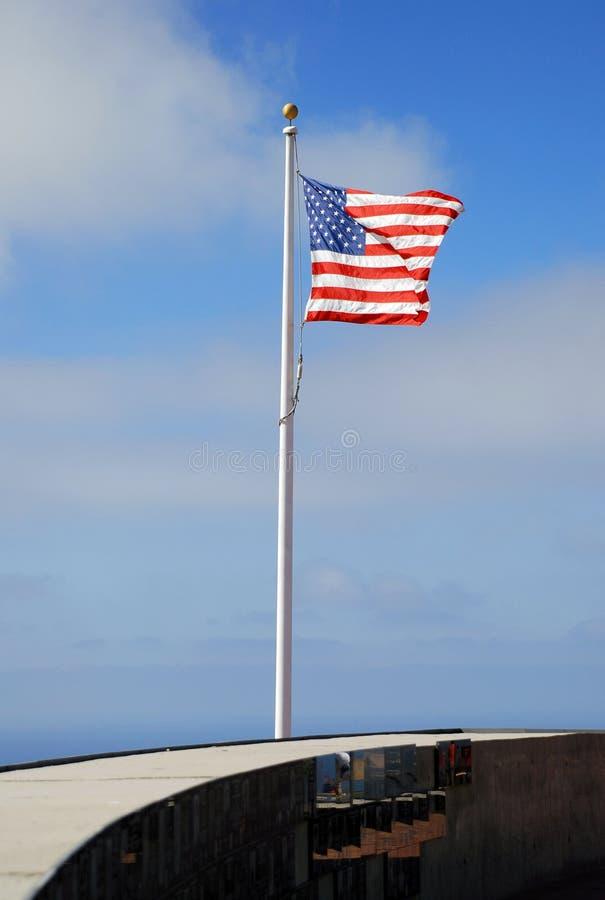 War memorial US flag royalty free stock image