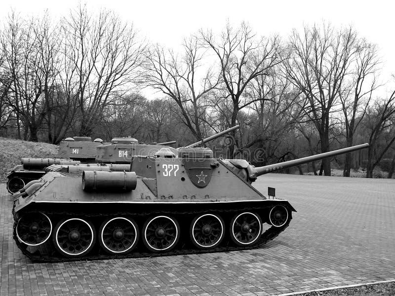 War Monument. Tanks in Brest Fortress memorial stock image