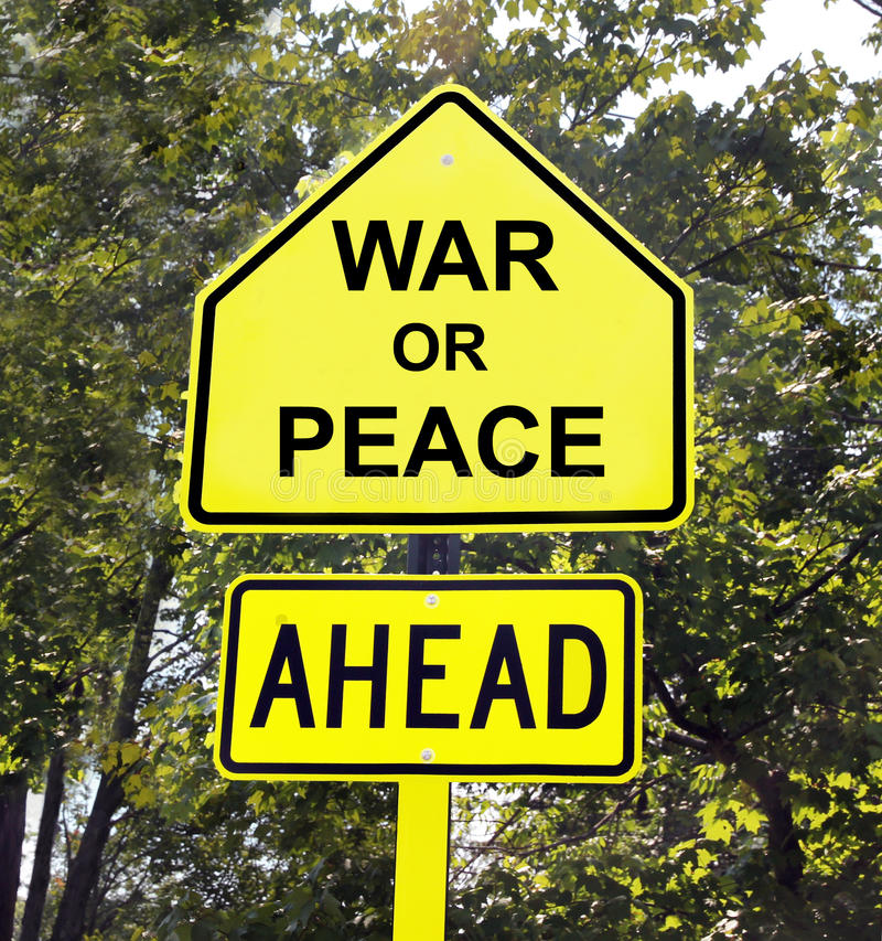 Free War Or Peace Ahead Sign Royalty Free Stock Image - 33436046
