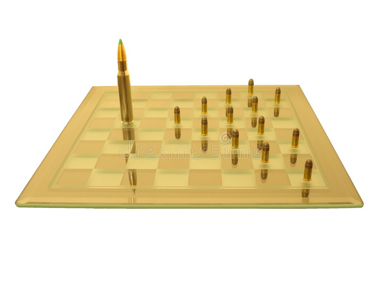 War with pawns. royalty free stock image