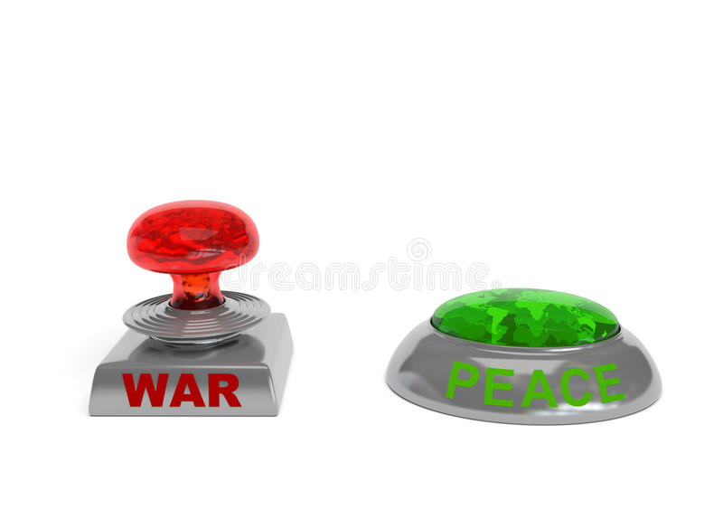 War and Peace buttons vector illustration