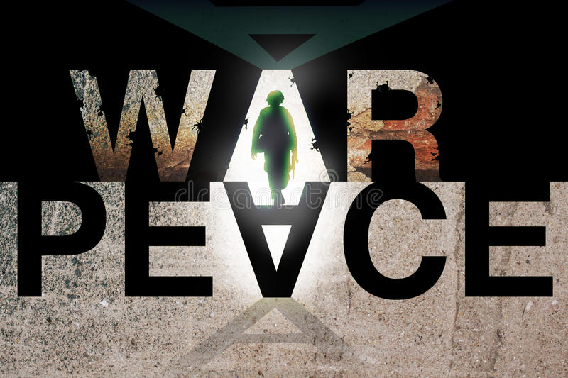 War and Peace concept vector illustration