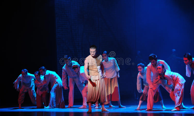 The war refugees-The third act of dance drama-Shawan events of the past. Guangdong Shawan Town is the hometown of ballet music, the past focuses on the royalty free stock photography