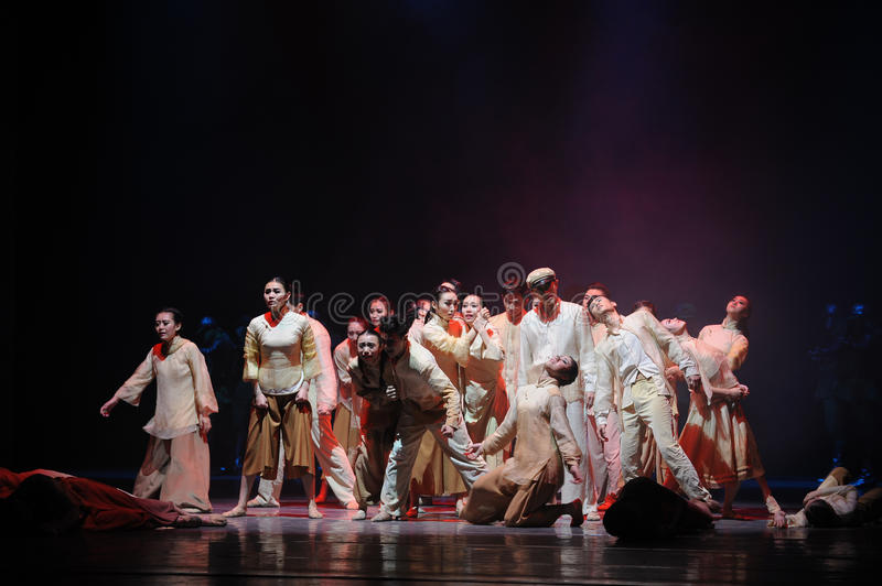 The war refugees-The third act of dance drama-Shawan events of the past. Guangdong Shawan Town is the hometown of ballet music, the past focuses on the royalty free stock photos