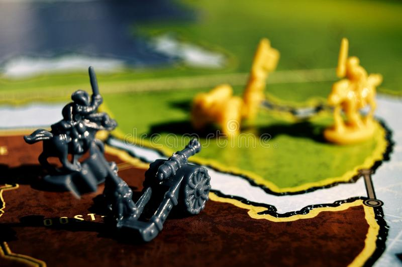 War scene with a board game royalty free stock photos