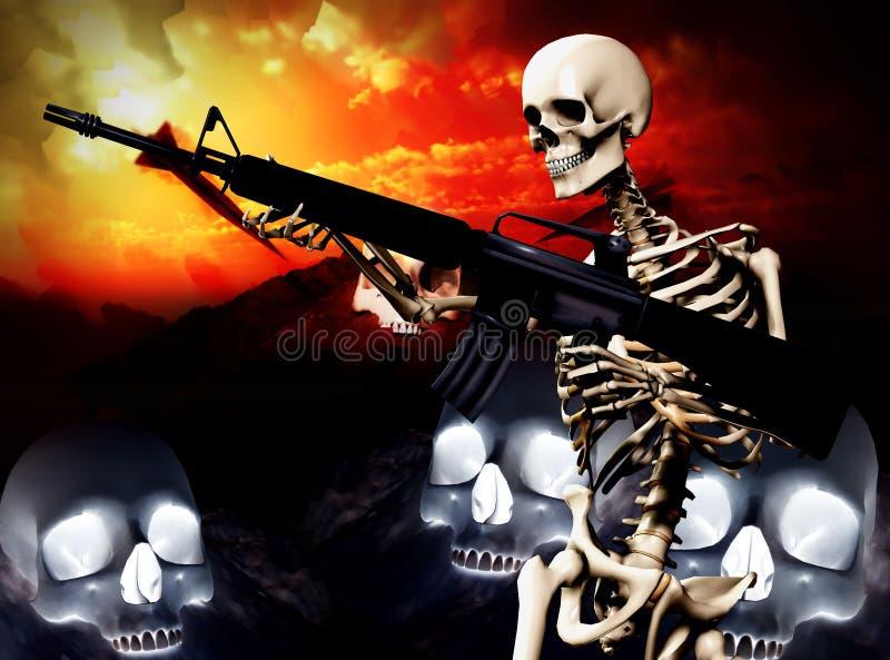 Download War Skeleton War Background 2 Stock Illustration - Image: 4188822