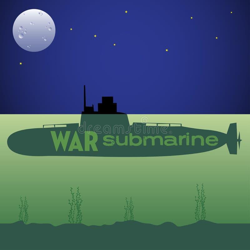 War submarine stock illustration