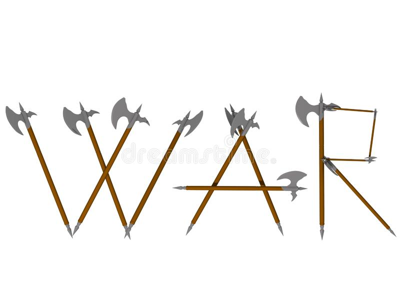 War text concept