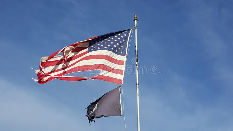 War-torn American Flag royalty free stock photos