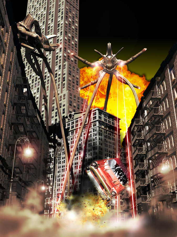 War of the Worlds stock illustration