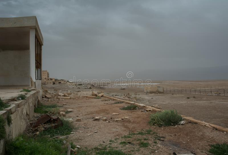 War zone, Abandoned, Building, humanitarian crisis. Abandoned, Building, humanitarian crisis, war zone landscape stock photography