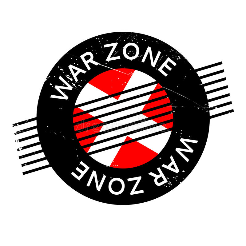 War Zone rubber stamp. Grunge design with dust scratches. Effects can be easily removed for a clean, crisp look. Color is easily changed vector illustration