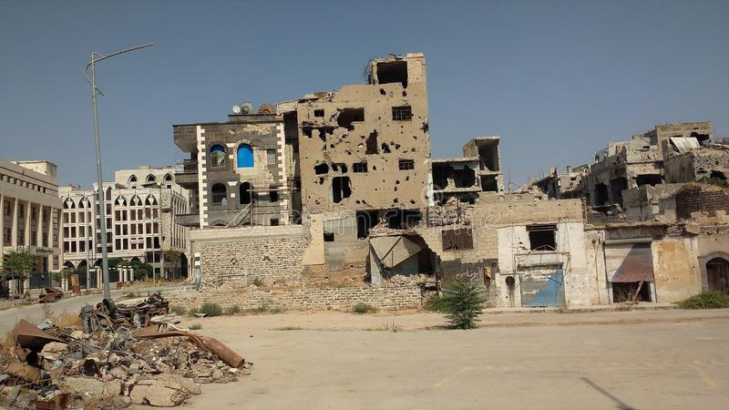 City of homs after war royalty free stock image