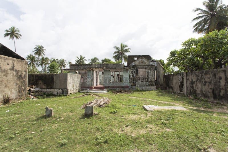 War zone thondamanaru, Sri lanka stock photo