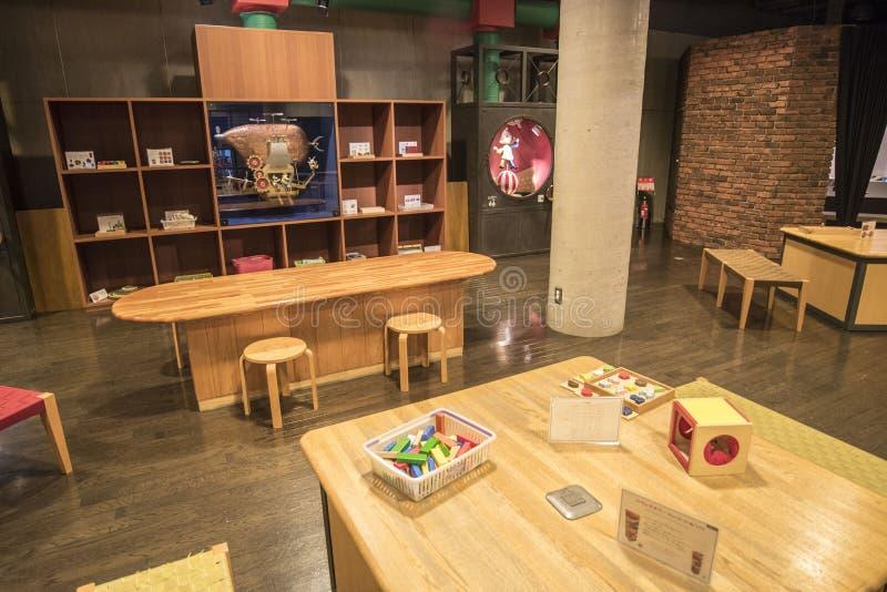 Warabekanstuk speelgoed museum in Tottori Japan 1 stock fotografie