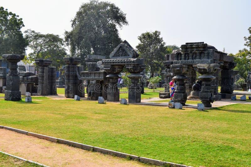 Warangal fort arkivfoto
