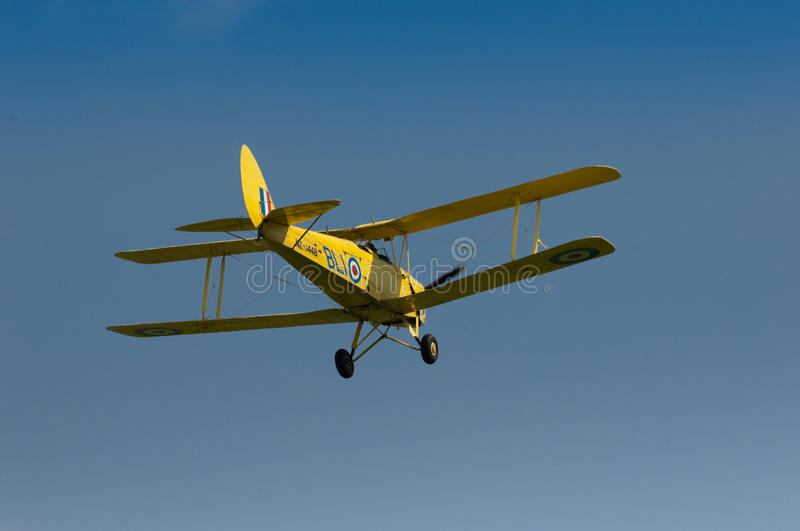 Download Warbirds - Yellow Tiger Moth In Flight Editorial Photography - Image: 17223487