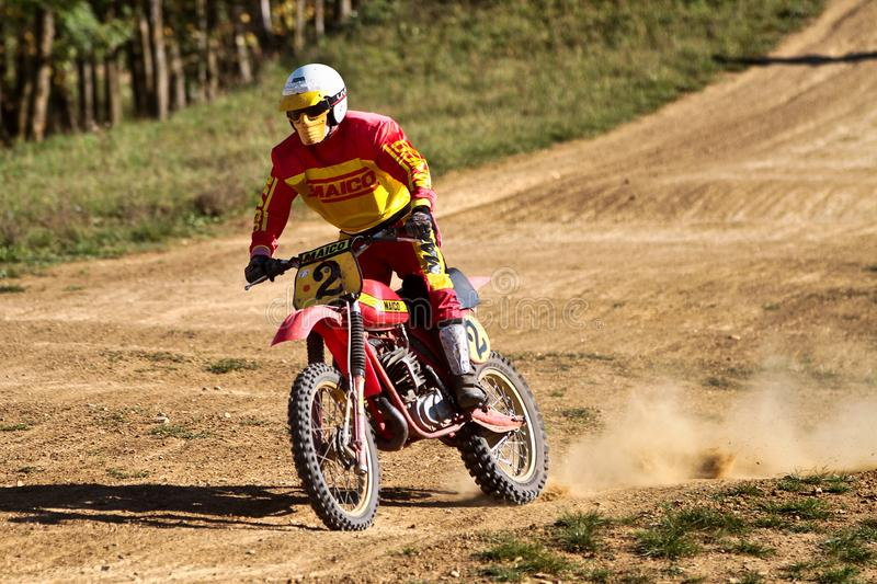 Warching, Germany - June 29, 2019: Motocross training in Warching stock images
