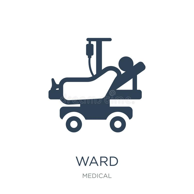 ward icon in trendy design style. ward icon isolated on white background. ward vector icon simple and modern flat symbol for web stock illustration