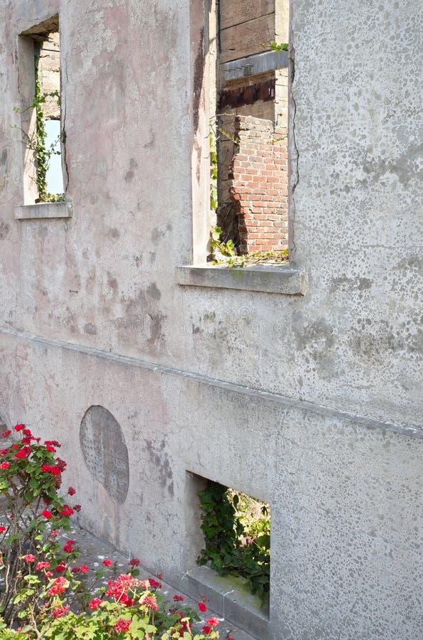 Warden Дом Угол на Alcatraz стоковые изображения rf