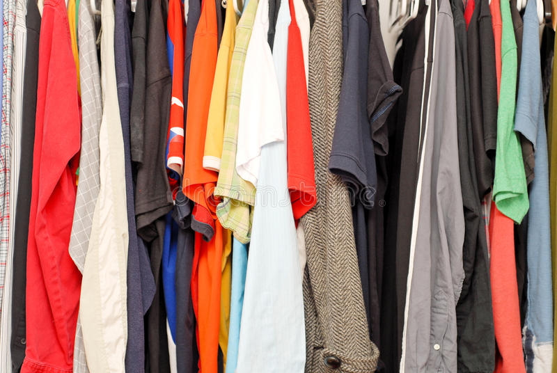 Wardrobe cheio imagens de stock royalty free