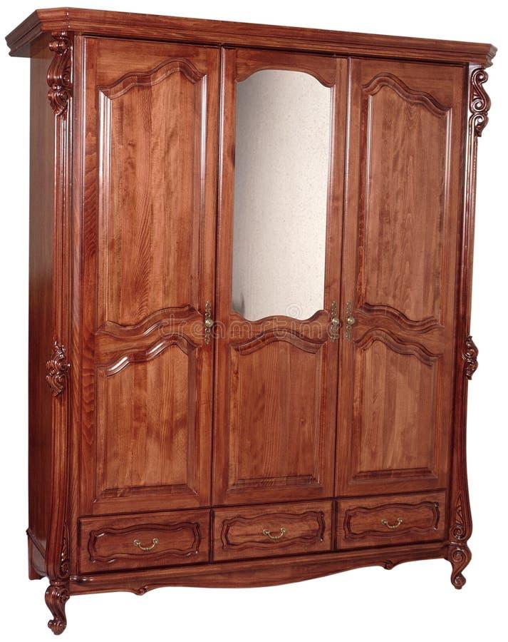 Wardrobe de madeira imagem de stock