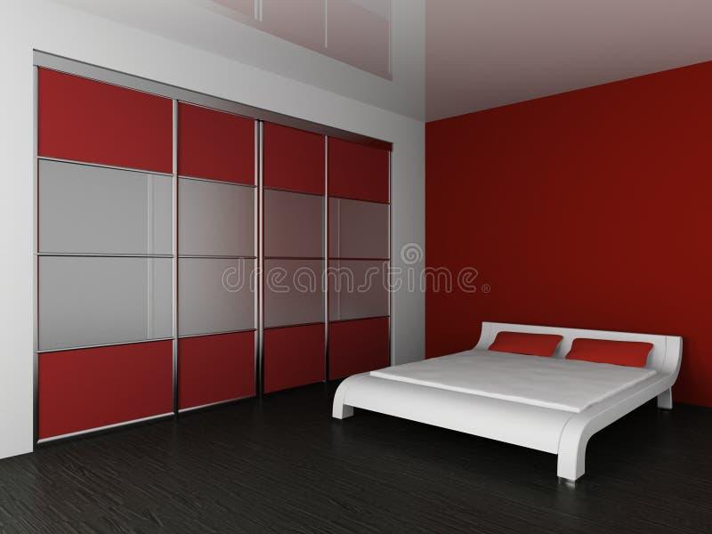 Wardrobe e cama ilustração do vetor