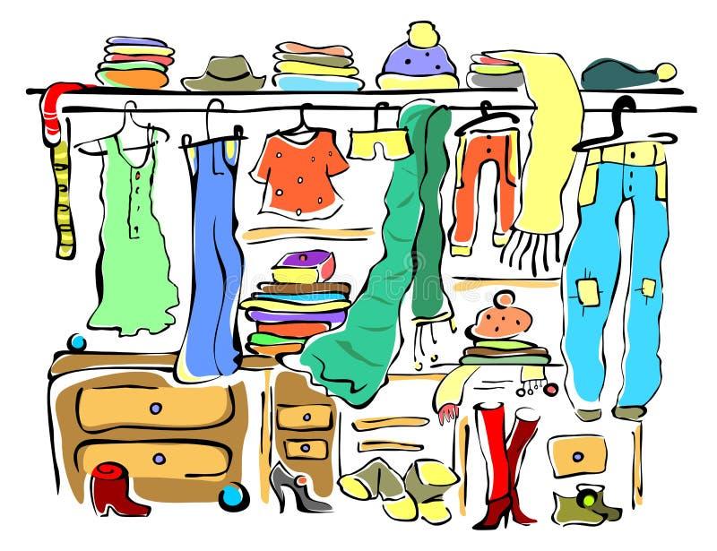 Картинка для детей гардероб
