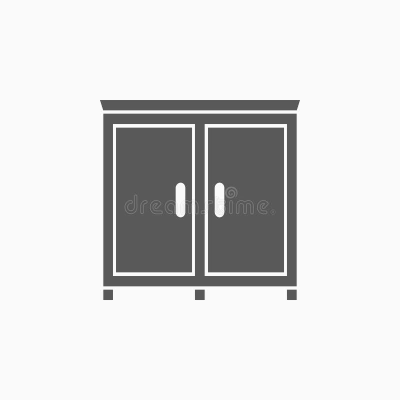 Wardrobe icon, clothing, clothes, garment, apparel stock illustration