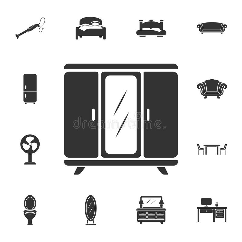 Wardrobe icon. Simple element illustration. Wardrobe symbol design from Home Furniture collection set. Can be used for web and mob royalty free illustration