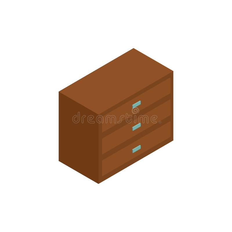 Chest isometric icon or logo for web design vector illustration