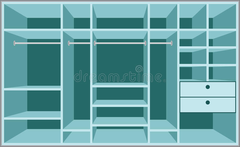 Download Wardrobe room. Furniture stock vector. Image of wardrobe - 23437442