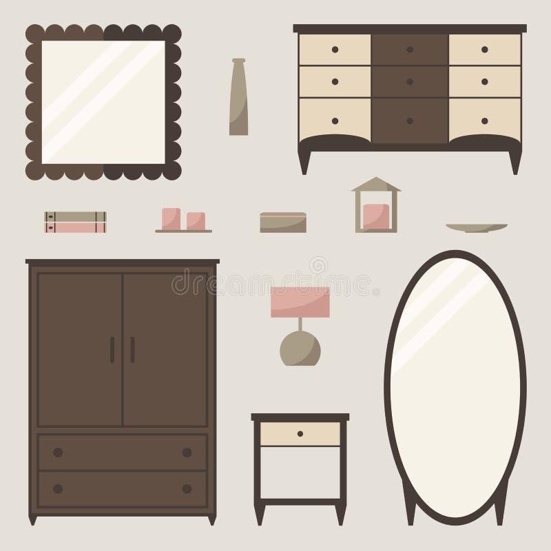 Wardrobe set. Classic wardrobe elements. royalty free illustration