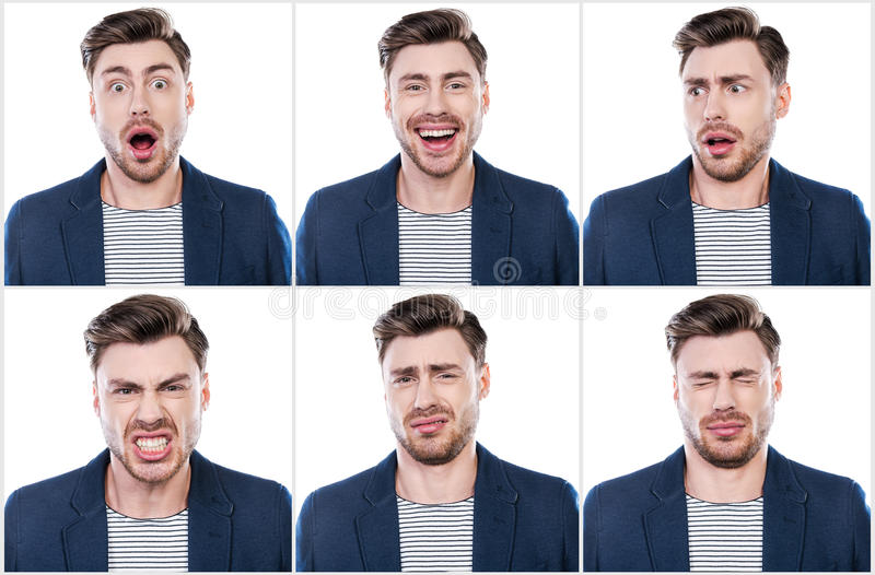 Ware emoties royalty-vrije stock fotografie