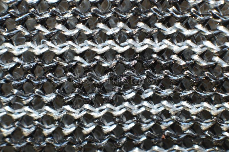 Ware geweven stof die kleurrijk is, gemaakt van nylon materiaal royalty-vrije stock fotografie