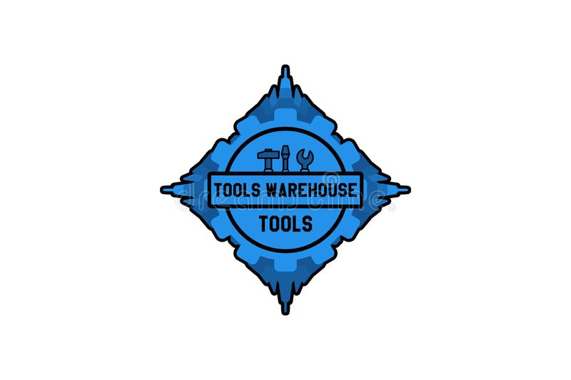 ware house tool logo Designs Inspiration Isolated on White Background. vector illustration